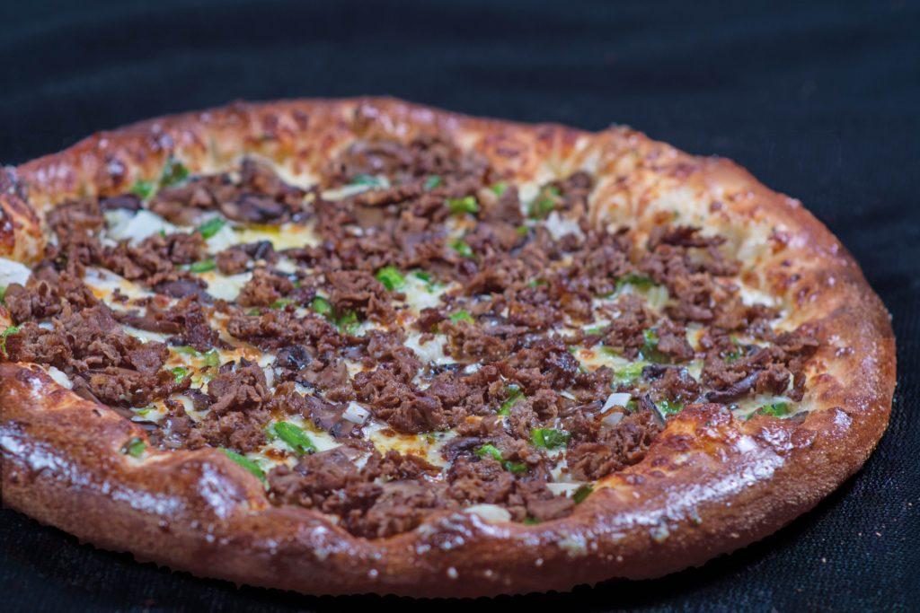 Philly Steak Pizza Eurogyro Add chicken or gyro meat for $3 add shrimp for $5. philly steak pizza eurogyro
